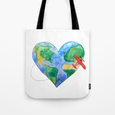 Love to Travel Tote Bag