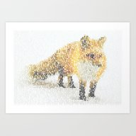 Fox In The Snow Art Print