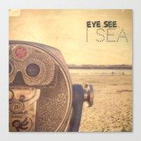 Eye see I sea Canvas Print