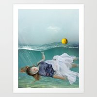 mermaid Art Prints featuring Mermaid  by Mary Kilbreath