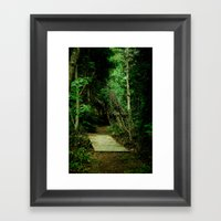 Entrance - color Framed Art Print