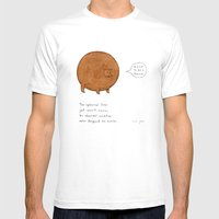 The Spherical Bear Mens Fitted Tee White SMALL