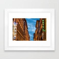 Florence at night Framed Art Print