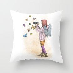 Photog Angel Throw Pillow