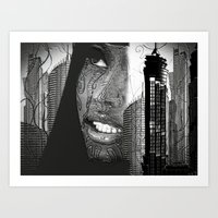 Daydreaming In The City Art Print