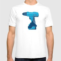 Cordless Drill Side View… Mens Fitted Tee White SMALL