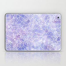 Lavender and white swirls doodles Laptop & iPad Skin