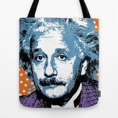 Blue Einstein Tote Bag