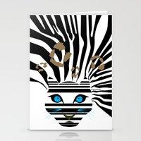 Leopard Zebra crossover Stationery Cards