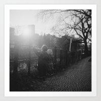 Two Boys in Berlin Art Print
