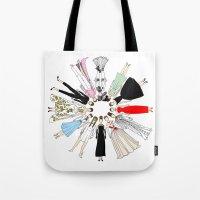 Audrey Hepburn Circle Fashion Tote Bag