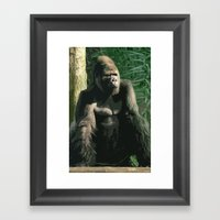 Gorilla Framed Art Print
