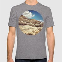 Striations Mens Fitted Tee Tri-Grey SMALL