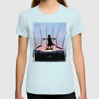 Magneto Kid Womens Fitted Tee Light Blue SMALL