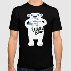 White Bear Mens Fitted Tee Black SMALL