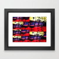 Barstools Framed Art Print