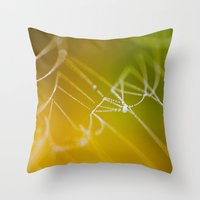 The Spiders Web - Fall Colors Throw Pillow