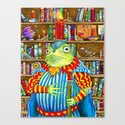 Rozologue Bagumphious, Librarian-King of the Candletoads Canvas Print