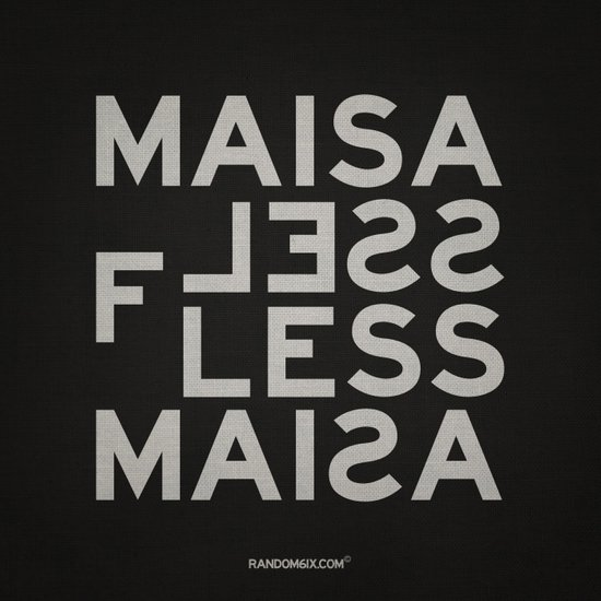 Palindrome: Ma is as selfless... Art Print