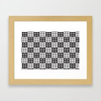 Hob Nob Black White Quar… Framed Art Print