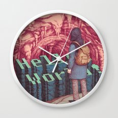 First line of the Earth Wall Clock