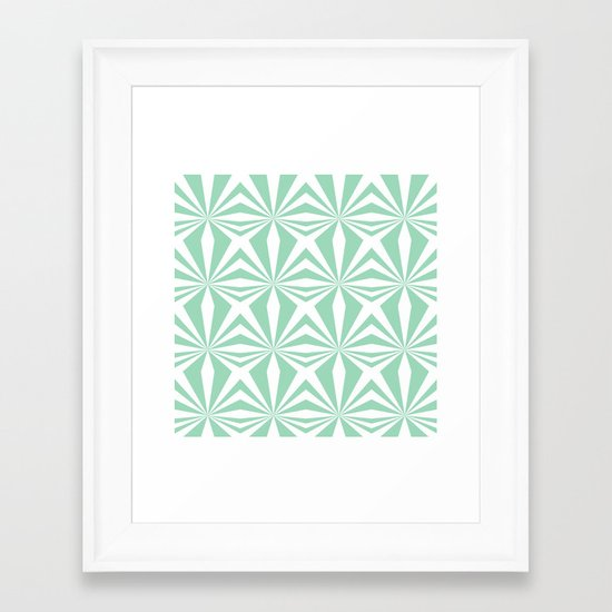 Mint Starburst #3 Framed Art Print
