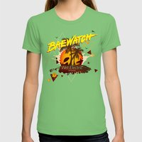 Baewatch - Wet Electric Womens Fitted Tee Grass SMALL