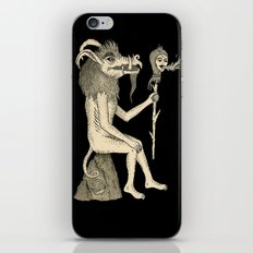 Creature Holding Sceptre iPhone & iPod Skin
