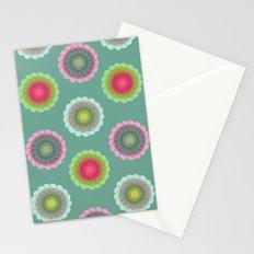 transparent floral pattern 3 Stationery Cards