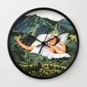 Rising Mountain Wall Clock