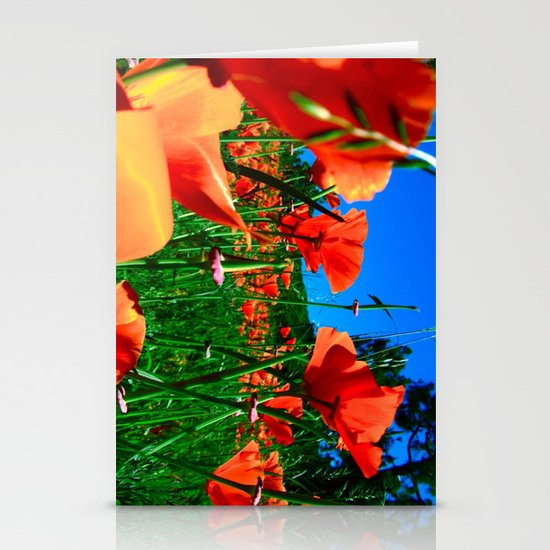 Field of Poppies Stationery Card