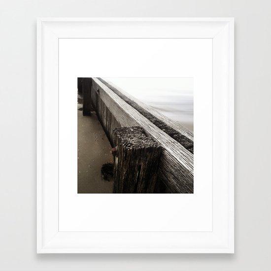 the break water 05 Framed Art Print