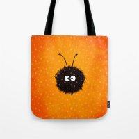 Orange Cute Dazzled Bug … Tote Bag