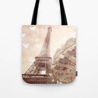 Eiffel Tower Carousel Dr… Tote Bag
