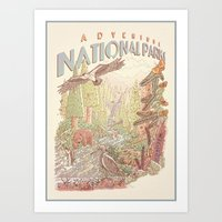 Adventure National Parks Art Print