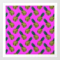 Neo-Pineapple - Miami Art Print