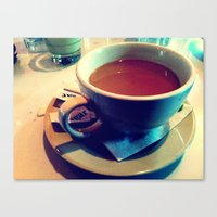 Canvas Print featuring Coffee by Lindsey