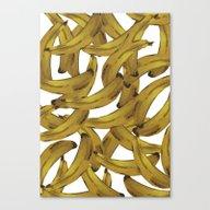 Retro Banana Pop Art Canvas Print
