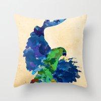 Rainbow Hawk Throw Pillow