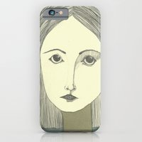 iPhone & iPod Case featuring grey portrait by Willy Ollero