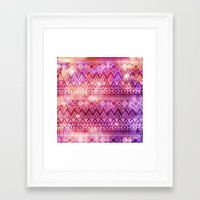 Tribal Fire. Framed Art Print