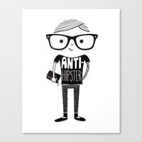 Anti-hipster Canvas Print