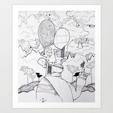 Birdwatcher Art Print