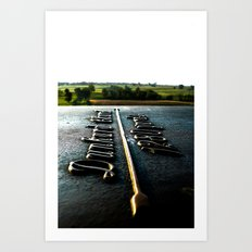 [1280 yards] As the bird flies Art Print