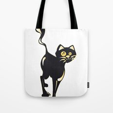Cat and Fly Tote Bag