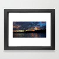 Sunset Panorama... Framed Art Print