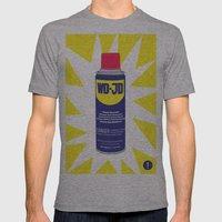 WDJD Stops Sqeaks Mens Fitted Tee Athletic Grey SMALL