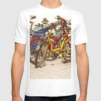 Bike Mess Mens Fitted Tee White SMALL
