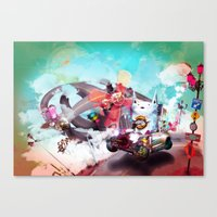 Wolf Racer Canvas Print