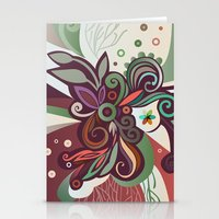Floral Curves II Stationery Cards